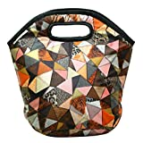 Marine Pearl Stain Dust Free Thermal Lunch Tiffin Food Bag Handbag for Office