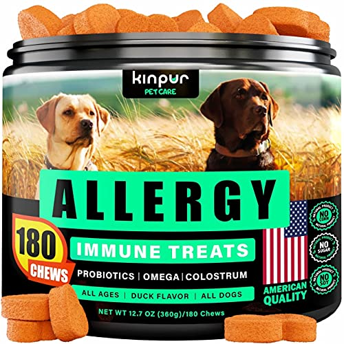 Dog Allergy Chews for Itchy Skin and Hot...