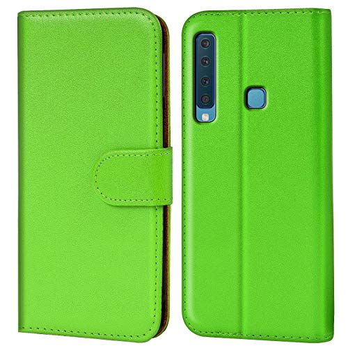 Verco Galaxy A9 (2018) Hülle, Handyhülle für Samsung Galaxy A9 Tasche PU Leder Flip Hülle Brieftasche - Grün