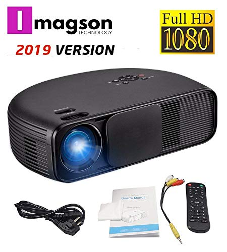 Imagson CL-760 - Proyector (Full HD, 1080P, Modelo 2018, LED, LCD 1920x1080 max, 4500:1 Contraste, 2 HDMI, VGA, 2 USB, para PS4, Xbox One, Nintendo Switch, PC, Blu-ray)
