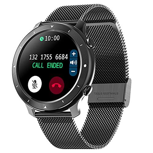 shjjyp Smartwatch Reloj Inteligente NiñA GPS Y Llamadas con 1.28' Pantalla TáCtil Completa Pulsera Actividad Inteligente Hombre Mujer Reloj Deportivo con CronóMetro PulsóMetro para Android Y iOS