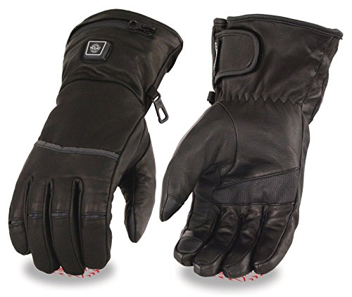 Milwaukee Men's Motorcycle Heated Gloves W/Touch Screen Fingers Butter Soft Leather (5XL Regular)