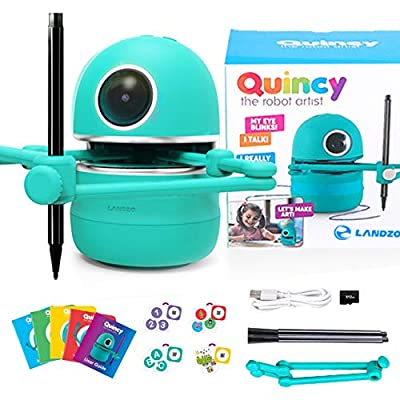 Angie The Educational Drawing Robot, STEM/STEAM Home Learning for Kids, Draw Count Spell Math and The Alphabet and Much More Toy Teacher for Children