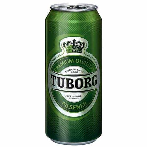 12 Dosen a 1 Liter Tuborg Pilsener Bier Dose Beer Mega Dose Megadose inc. 3,00€ EINWEG Pfand