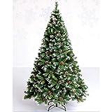 GCP Árbol de Navidad Artificial de propagación automática con Conos de Pino Patas de Metal con bisagras Fácil Montaje Pino de Navidad Interior Decoración de Vacaciones al Aire Libre-Verde 4 pies