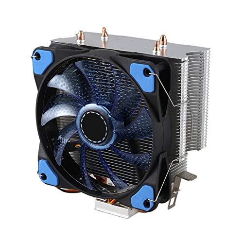 Radiador del ventilador Radiador de la CPU 2 de cobre puro de la pipa de calor Torre de refrigeración Sistema de 12 cm ventilador de la CPU CPU de refrigeración del radiador