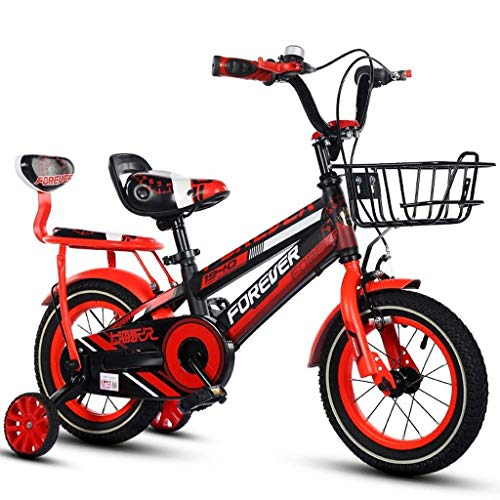 LIUCHANG Lquide Kinder Bicle, Boy Bike, 16 Zoll, Geeignet for 4-8 Jahre Alten Jungen, mit komfortablen Back Seat LIN liuchang20 (Color : Red)