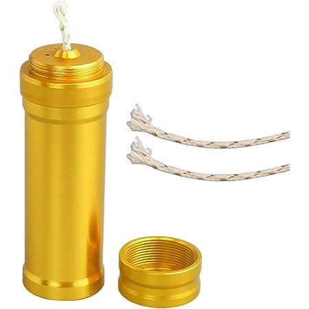 SRECNO オイルランプミニ 金属 アルコールランプ ミニ 綿の芯 3本付き アウトドアサバイバルキャンプ ハイキング旅行 ライトラボ機器暖房便利な耐久性