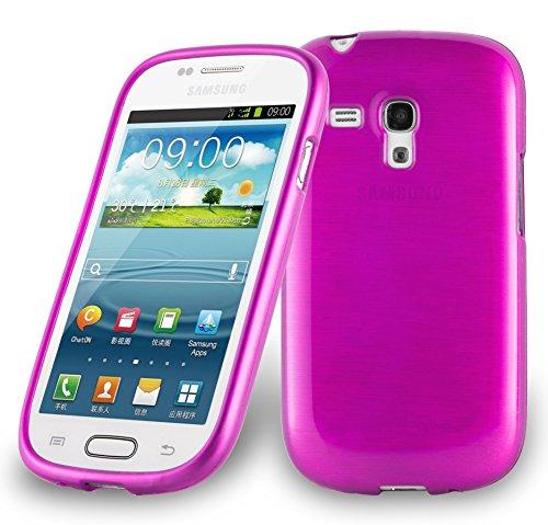 Cadorabo Custodia per Samsung Galaxy S3 Mini in Hot Pink - Morbida Cover Protettiva Sottile di Silicone TPU con Bordo Protezione - Ultra Slim Case Antiurto Gel Back Bumper Guscio