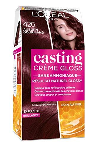 L'Oréal Paris Casting Crème Gloss Coloration Ton sur Ton pour Cheveux - Sans Ammoniaque - Auburn Gourmand (426)
