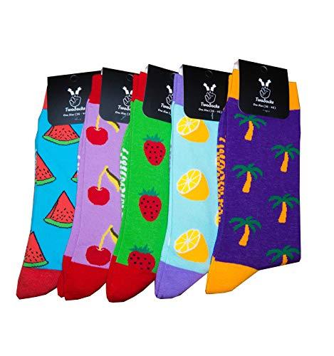TwoSocks Palmen Socken Sommersocken Herren und Damen lustige & witzige Strümpfe als Geschenk, Baumwolle, Einheitsgröße