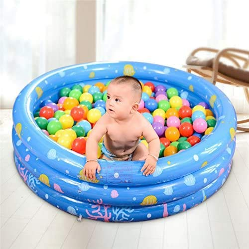 Bermnn, piscina hinchable Bola inflable Pit piscina, inflable Océano Ball Pool, Piscina for bebé o una pelota de piscina interior y exterior tiendas el juego, conveniente for los bebés y niños, (130cm