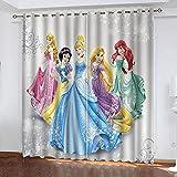 Bfrdollf Juego de 2 cortinas opacas para habitación de los niños, para niñas,...