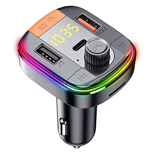 QC3.0 Snabbladdning T832 bil MP3-spelare Färgglad atmosfär Andningslampa handsfree bil Bluetooth