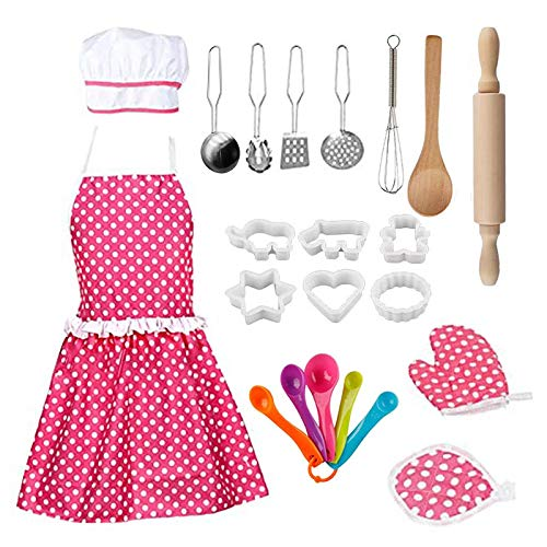 Geniff New Kids Cooking Utensils Easy Bake Oven Mixes Baking Sets for Teens Baking Supplies for Kids for Girls Kitchen Set Baking Set