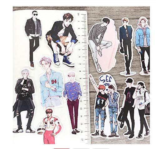 votgl 13STKS Cartoon hand getekend EXO Papier Lable Stickers Ambachten En Scrapbooking Decoratieve Sticker DIY Mooie briefpapier