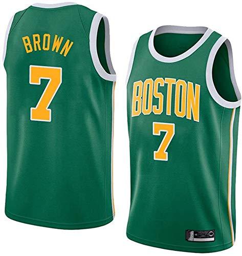 WHYYT Jaylen Brown Jerseys - NBA Boston Celtics # 7 Jersey de Baloncesto para Hombre, Tela Transpirable Uniforme Unisex Light Uniforme,XXL(185~190CM/ 95~110KG)