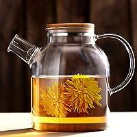 おしゃれティーポット 高級感 贈り物 ガラスの透明なガラスのアフタヌーンティーセットフルーツフラワーティーカップセット家庭用暖房キャンドルフルーツティー耐熱ティー700mlの キッチン用品 ティー用品