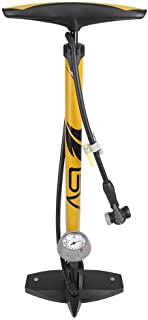 BV Bicycle Ergonomic Bike Floor Pump with Gauge & Smart Valve Head, 160 psi,..