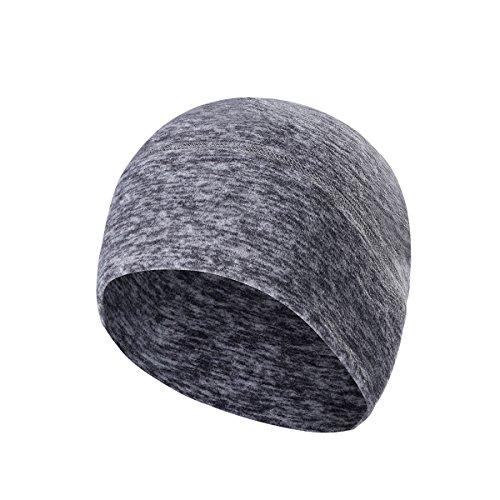Arcweg Microfleece Beanie Atmungsaktivem Skimütze Winter Outdoor Mütze 9 Reine Farbe Grau