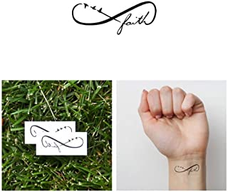 Tattify Faith Temporary Tattoo - Leap (Set of 2) - Other Styles Available - Fashionable Temporary Tattoos - Long Lasting and Waterproof