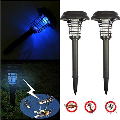 2PCS Energia Solare zanzariera elettrica da Esterno per Giardino - Lampada Antizanzare Elettrico Mosquito Killer zanzariera elettrica Esterno Bug Zapp