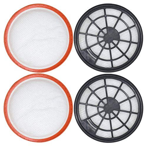 4-teiliges Filter-Set für Dirt Devil DD2650-1, DD2651-0, DD2651-1, DD2720 2620001, 2620002, 2 x Motorschutzfilter + 2 x Abluftfilter