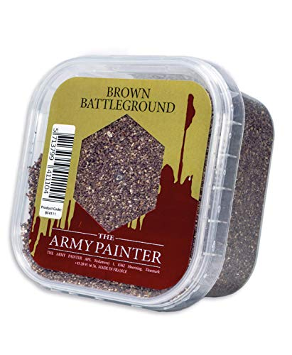 The Army Painter Battlefield Essential Series: Brown Battleground Miniature Basing Sand, 150 ml