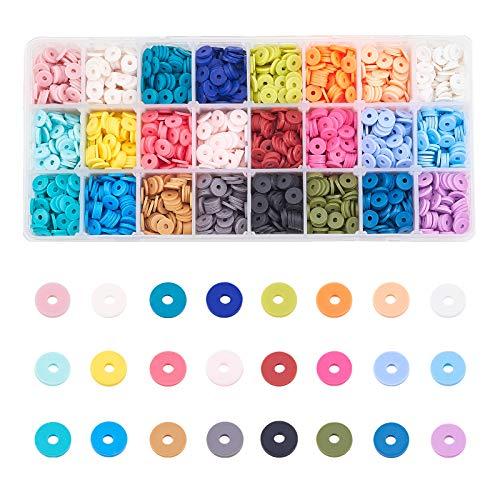 Heishi Clay Beads Flat Round Handmade Polymer Clay Beads