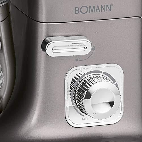 Bomann KM 6010 CB Robot Mixeur Pâtissier Capacité 5 L, vitesse réglable électronique, 1100 W,...