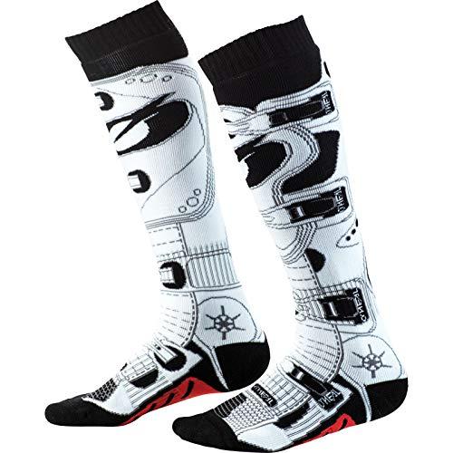 O'NEAL Pro MX RDX Socken weiß/schwarz Einheitsgröße 2020 Oneal