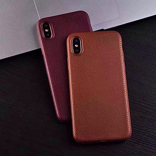 TYFYBH Calzini per telefono in pelle modello per telefono X 8 7 6 6S Plus 5 5S Cover morbida posteriore per telefono 6 Plus Phone Back Shell Borse Carcasas caso (colore : 01, Materiale: Per iPhone X)