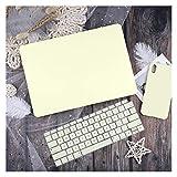革/布ケース用MacBook Air 13 A2338 M1 A2179 A2337 A1932 PRO 13 15 A2159 A1466 A1708ハードカバー キーボードカバー (Color : Yellow, Size : Pro 13 A1706 A1989)
