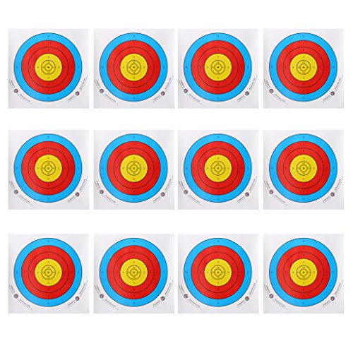 P Prettyia 12pcs Papier-Scheibenauflagen/Papier Zielscheiben für Bogenschießen Recurve und Compound Bogen