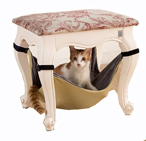 Hamac pour chat Lit doux et chaud libération espace chats chiot furet sommeil frolic hamac lit facile à utiliser avec chaise 3couleurs