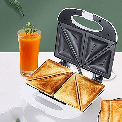 Forma de tostadora de tostadora de sándwich eléctrico Ast calentamiento con placas recubiertas antiadherentes fáciles de limpiar para el desayuno, el almuerzo o los bocadillos fangkai77