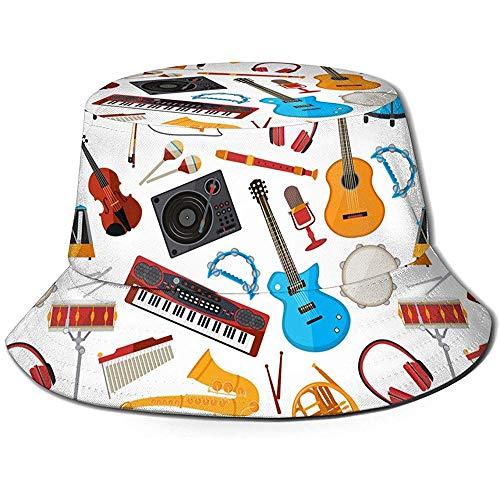 Altavoces Unisex Amplificador Música Jazz Guitarra Imprimir Sombrero del Cubo de Viaje...