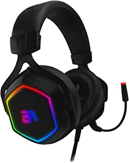 Balam Rush AUDIFONOS Gaming HESIX Spectrum/ACTECK ON-Ear/USB/7.1 Canales/RGB/MICROFONO/Color NEGRO/BR-929776