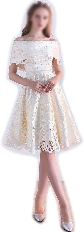 ProBikeUS Womens Sexy Cutout Oneshoulder Fashion Aline Evening Cocktail Wedding Dress