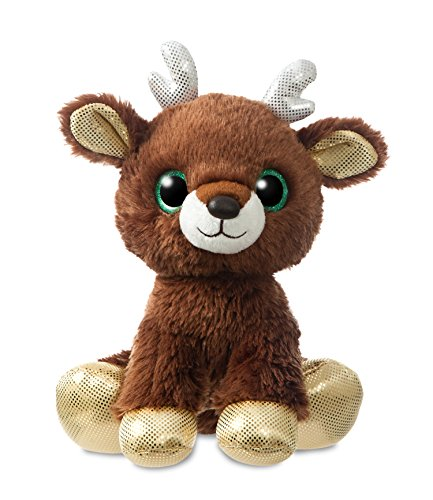 Aurora 60959, 60989, Sparkle Tales, Jingle Reindeer, 30 cm, peluche marrone, 30 cm