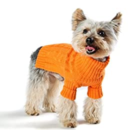 orange dog sweater coat
