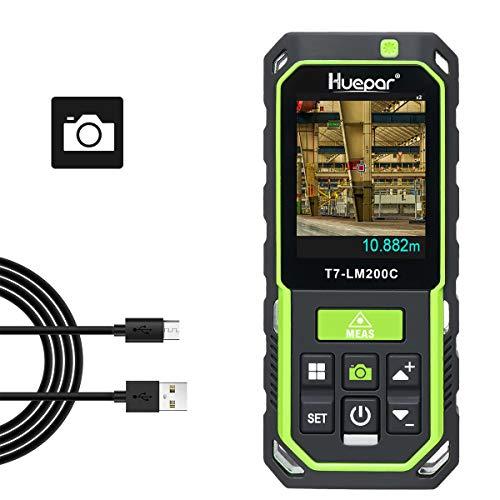 Huepar Laser Distance Meter with Camera 2X/4X...