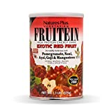 NaturesPlus Fruitein Exotic Red Fruit High Protein Energy Shake - 1.3 lbs, Vegetarian Powder - Plant-Based Meal Replacement With Red Superfoods, Antioxidant - Gluten-Free - 16 Servings