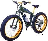 Bicicleta eléctrica de neumático grueso de 26 pulgadas 48V 15Ah Bicicleta eléctrica de nieve 21/24/27/30 Velocidades Beach Cruiser Hombres Mujeres Bicicletas eléctricas de montaña con freno de disco