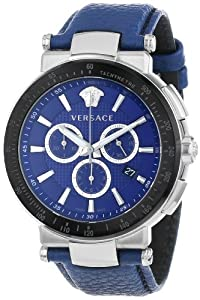 Versace Men's VFG020013 'Mystique Sport' Stainless Steel Watch with Leather Band image