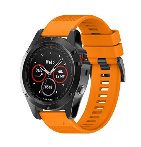 WIIKAI Compatible con Garmin Fenix 5X,Garmin Fenix 3,D2 Charlie,Descent Mk1,Garmin Fenix 3HR Correas para Relojes, Correa de Pulsera de Reemplazo.
