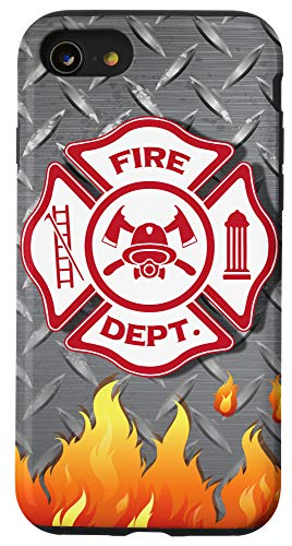 iPhone SE (2020) / 7 / 8 Fire Department Badge Firefighting Cool Firefighter Gifts Case