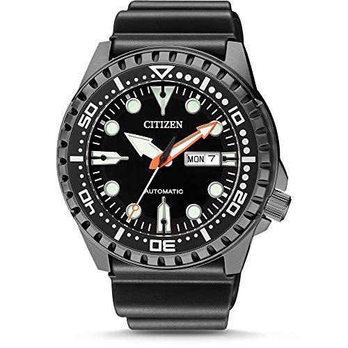 Citizen Mens Analogue Automatic Watch with Rubber Strap NH8385-11EE