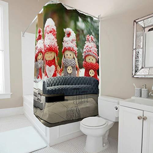 NiTIAN Girl, sofapatroon douchegordijn waterdicht schimmelresistent douchegordijn sofa badkamergordijn voor badkamer b x h: 120 x 200 cm