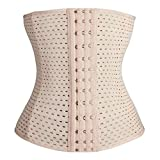 Everbellus Breathable Latex Corset Training Waist Cincher for Women (2XL, Ivory) by